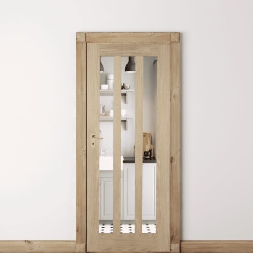 Oak Aston Clear Glass Door
