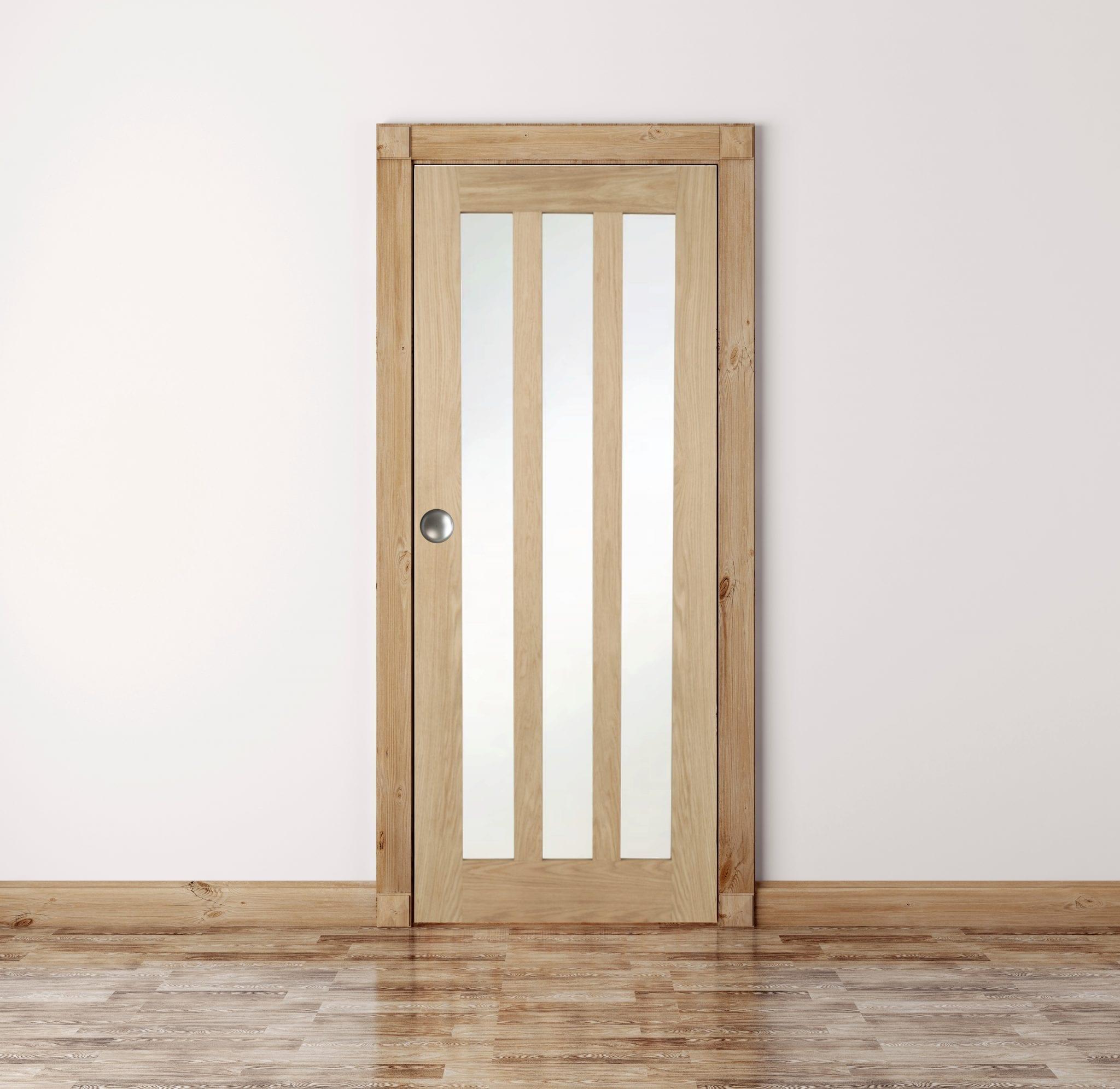 Oak Aston Frosted Glass Internal Door Green Tree Doors