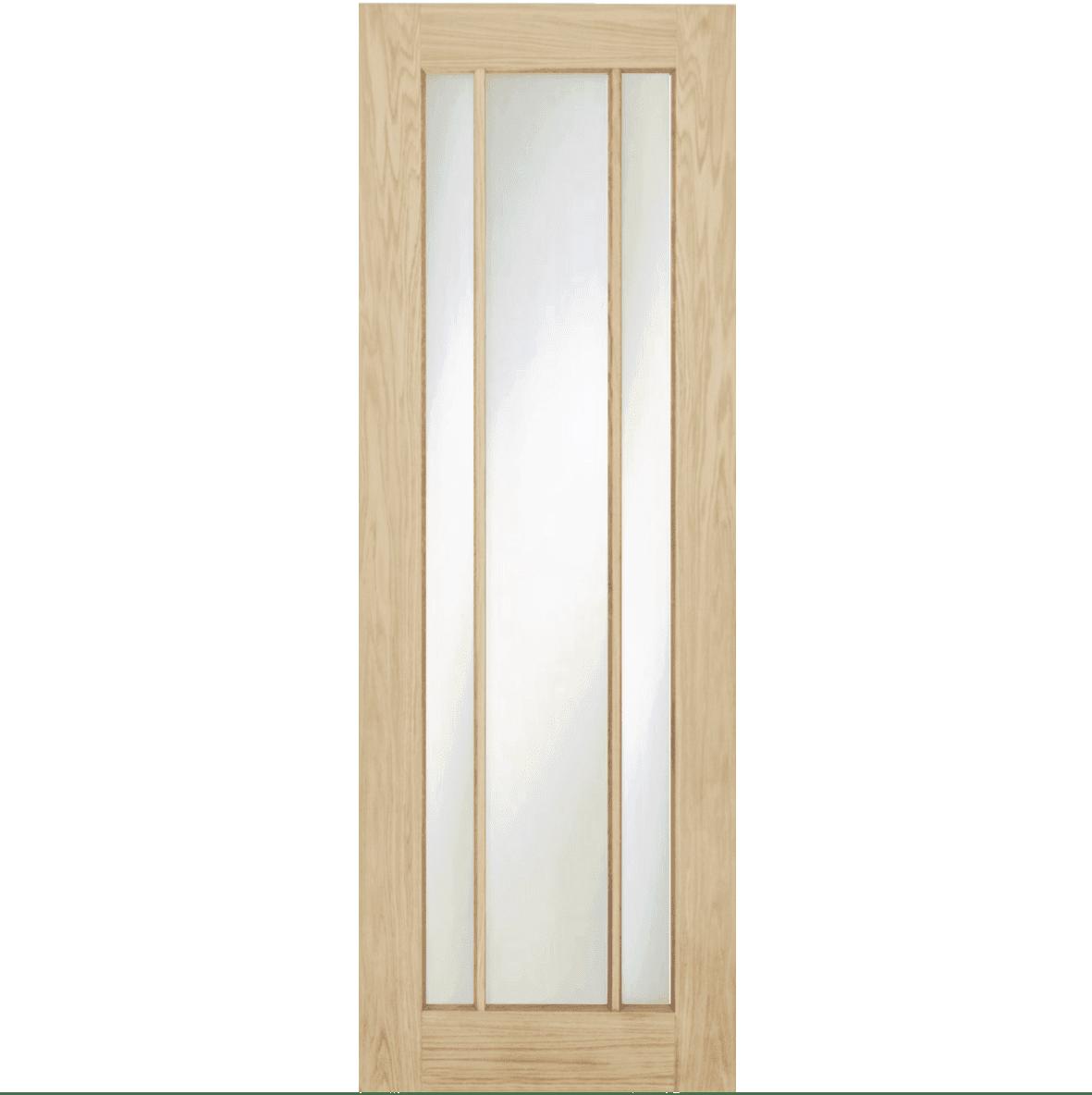 Oak Langdale Frosted Glass Door Amp Frame Kit Green Tree Doors