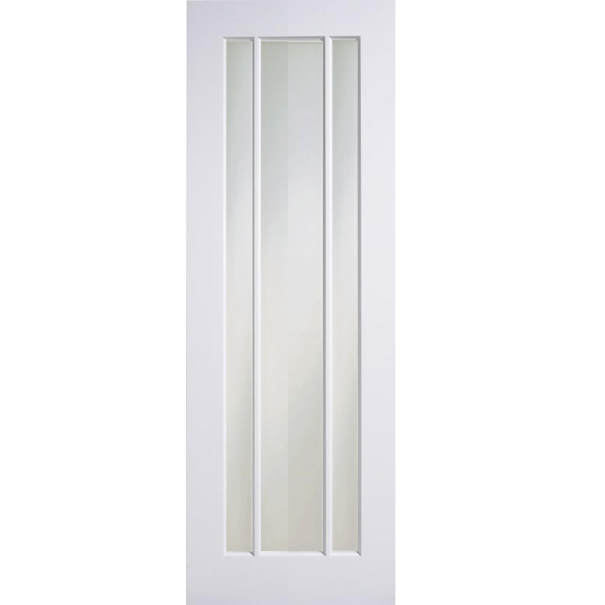 outlet store 953bd fdf7a White Primed Langdale Frosted Glass Internal Door